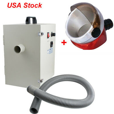 US Dental Lab Digital Single-Row Dust Collector Vacuum Cleaner +Suction Base