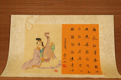 Chinese famous Handwork hand painting pipa old art Scrolls Home wall decoration