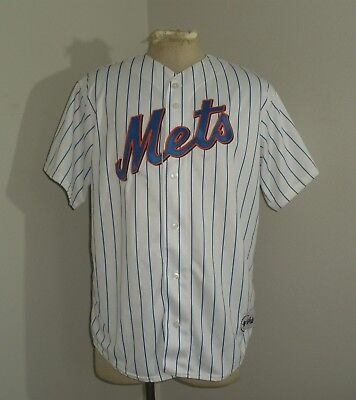 Mens Majestic NY NEW YORK METS Tom GLAVINE #47 SEWN MLB USA MADE Jersey L