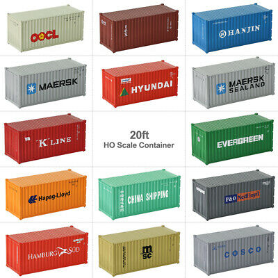 HO Scale 20ft Containers Shipping Container Freight Car Model Trains Wagon