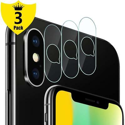 3PK For iPhone XS/XS Max/XR/X  Back Camera Lens Screen Protector Tempered Glass