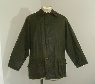Mens BARBOUR BEAUFORT A150 Wax Cotton oilskin hunting GAME Jacket Coat 40 102CM