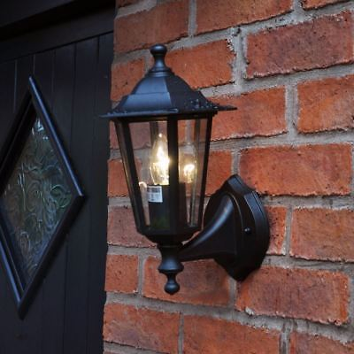 Kingfisher OUT4 Victorian Style Wall Light with PIR Sensor Black