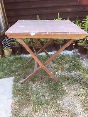 Groovy Old Folding Table Camping Table Garden Table Folding Wood Download Free Architecture Designs Intelgarnamadebymaigaardcom