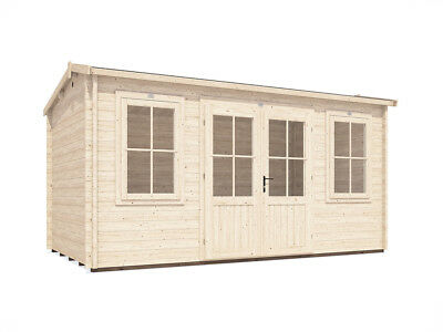 Summer House Log Cabin Garden Workshop Shed 45mm Thick Walls - Lantera 4.5mx2.5m
