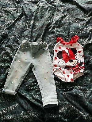 Baby girl H&M jeans & costume age 18-24 months