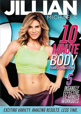 Exercise DVD - JILLIAN MICHAELS 10 Minute Body Transformation - 5 Workouts!
