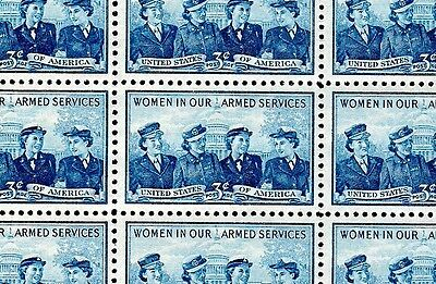 1952 - SERVICE WOMEN - #1013 Full MInt -MNH- Sheet of 50 Postage Stamps