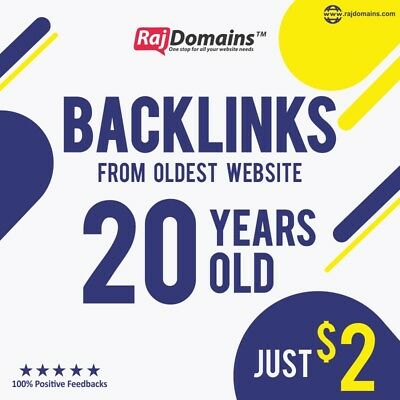 Premium 100% DoFollow backlink from oldest website - 20 years old since 1999 SEO