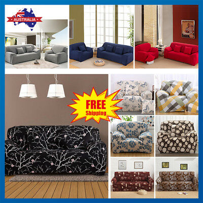 Stretch Sofa Cover Lounge Couch Removable Slipcover Washable 1 2 3 4 seater