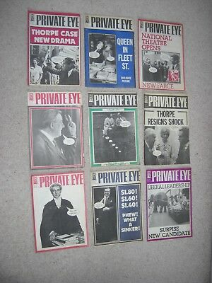 9 PRIVATE EYE MAGAZINES (1976) Nos: 370, 371, 372, 374, 375, 376, 377, 378, 379