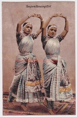 India Tanjore Dancing Girls Postcard E20C - 06