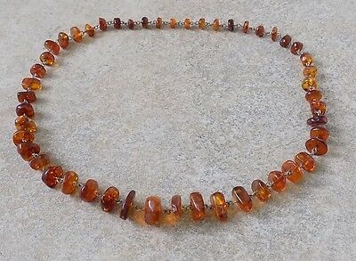 UNIQUE the ANCIENT NECKLACE With NATURAL AMBER of the USSR 1960