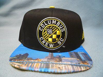 huge selection of d9e3e 192cd Adidas MLS Skyline Columbus Crew BRAND NEW Snapback hat cap Football Club FC