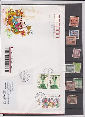 China Cover And Stamps See Scan