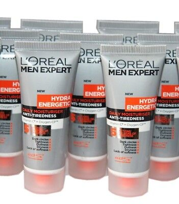 6 x L'Oreal Men Expert Hydra Energetic Daily Moisturiser | 20ml size | Wholesale