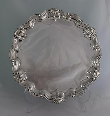 "Superb Large 15"" Silver Salver Goldsmiths & Silversmiths Co. Edwardian 1910"