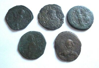 A lot of 5 x Ae-Follis of Byzanz  include Justinianus I. ect.