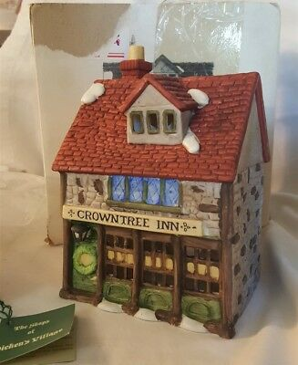 Dept 56 Dickens Village Lighted CROWNTREE INN One Of The Original 7 - 65153