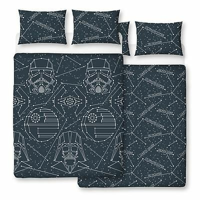 Official Star Wars Stellar Double Duvet Cover Set Constellations Kids Adults