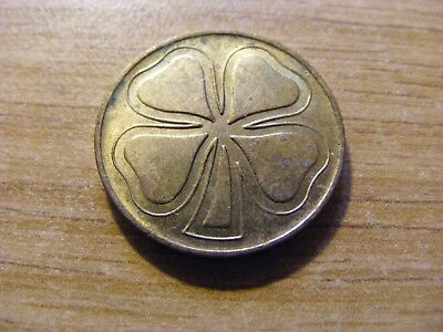 "A ""Lucky"" 4 Leaf Clover Token - nice Condition, 22mm Dia -"
