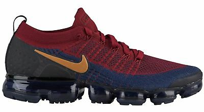 Nike Air Vapormax Flyknit 2 Mens 942842-604 Red Obsidian Running Shoes Size 10.5