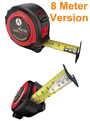 ADVENT UK 8M Metric Only Dual Vice Versa Double Sided Pocket Work Tape Measure