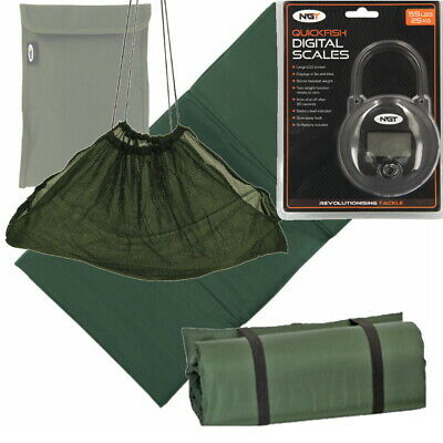 NGT Unhooking Mat Weigh Sling 55lb Digital Scales for Carp Coarse Fishing