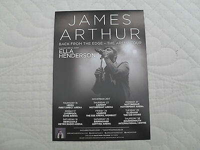 JAMES ARTHUR - Lovely colour tour flyer (Mint)
