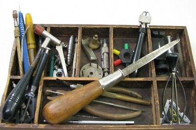Large Lot Of Vintage Watchmaker Tools Watch Repair Tool Parts