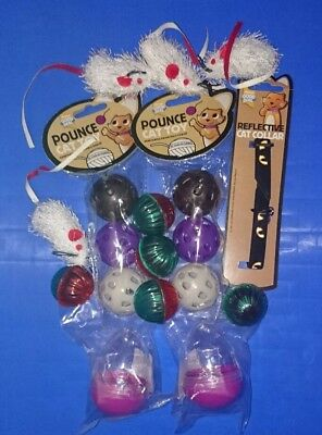 New Cat toys accessories collar bundle balls mice Whiskas wobbling treat dispens