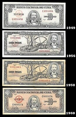... Special BANKNOTES 20 PESOS.1949,56,58,60 -CARIBBEAN ISLAND MONEY PAPER-....