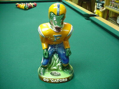 Florida Gator's Football Decanter 1975 Ezra Brooks Heritage China Linebacker