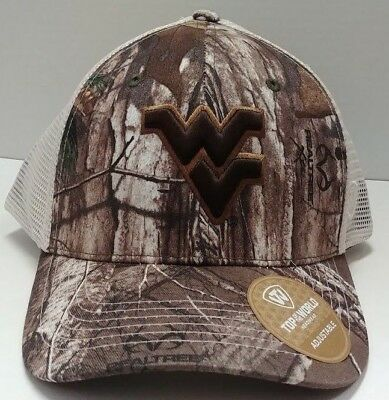 new concept 7bf91 962ec West Virginia Mountaineers Adjustable Camo Hat From Top of the World - Go  WVU
