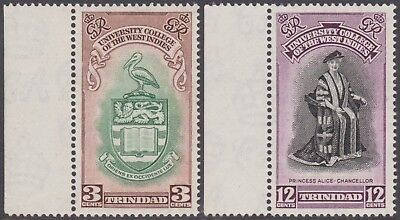 Trinidad 1951 Inauguration of B.W.I. University College 3c/12c MNH Margin Stamps