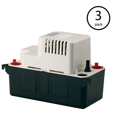 Little Giant VCMA-20UL 115V 80 GPH Vertical Centrifugal Condensate Pump (3 Pack)