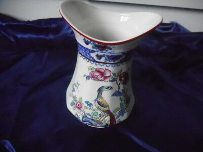 Corona ware vase - decorated 'Rockery and Pheasant' pattern - good condition