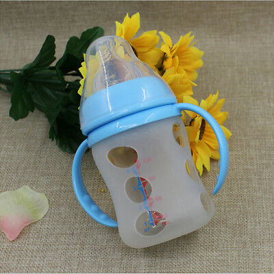 Glass Baby Feeding Drink Bottle Cover Bottle Sleeve Cover Protect Insulating CB