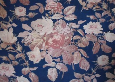 NEW AUTUMN STOCK: BEAUTIFUL 19th CENTURY FRENCH LINEN COTTON, ROSES c1870 104.