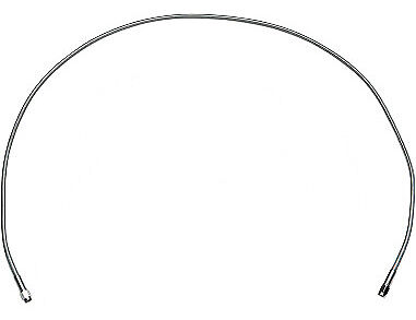 Drag Specialties Brake Line 50 Inch Stainless Steel Clear Coated Universal