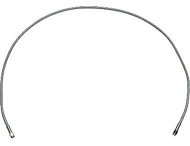 Drag Specialties Brake Line 44 Inch Stainless Steel Clear Coated Universal