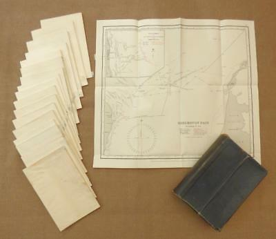 1919, WW1 NAVAL OPERATIONS - ADMIRALTY BOXED SET of 18 MAPS_1914/ Falklands