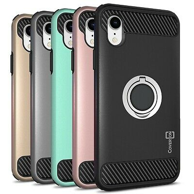 CoverON For Apple iPhone XR / 10R Case RingCase Hybrid Stand Hard Phone Cover