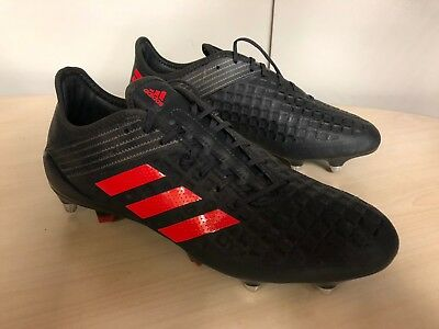 adidas Predator Malice Control SG Pro Rugby Boots  UK11 Black  rrp £160