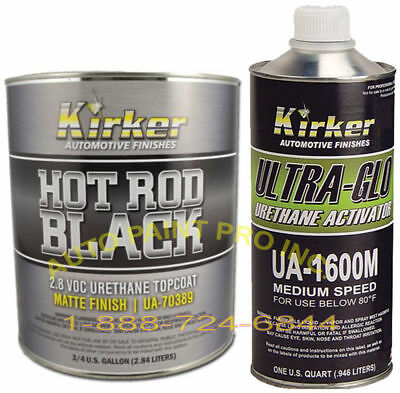Hot Rod Matte Black Finish 70389 Kirker Single Stage Urethane auto paint VOC2.8
