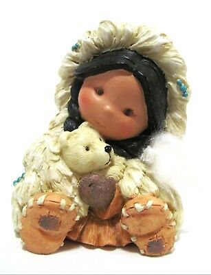 """Rare Friends Of The Feather """"Gift Of a Warm Smile"""" Polar Cub Figurine 285331"""