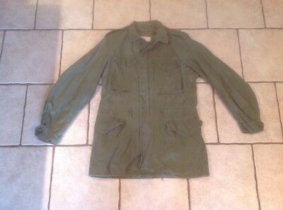 Vintage US ARMY M-1951 M-51 FIELD JACKET SIZE Small Long Sateen Combat