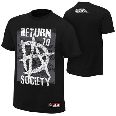Dean Ambrose-Return to Society 2018 T-SHIRT WWE XS-5XL NEU RAW WWE Wrestling