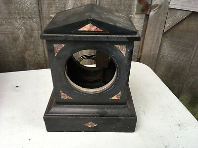 Vintage Slate and Marble Clock Case for Parts / Repair ML5