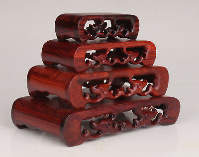 4 Wood Carving Classic Snuff Bottle Home Display Base Stand Practical